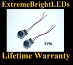 3156 3056 3456 4156 LED Halogen Bulb Signal Light Harness Socket Plug