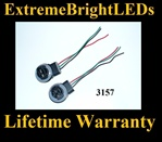 3157 3057 LED Halogen Bulb Signal Light Harness Socket Plug