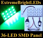 ONE GREEN 36-LED SMD Panel fits all interior Light sockets