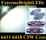 TWO Xenon HID WHITE Canbus Error Free 6418 C5W Cree XP-E LED License Plate Lights