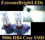 TWO Xenon HID WHITE 9006 9012 HB4 Cree + 12-SMD LED Fog Daytime Running Light Bulbs