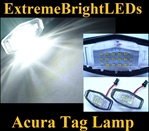 TWO Xenon HID WHITE TSX MDX RL TL ILX Accord Odyssey Civic SMD LED Lamps Lights