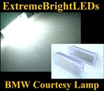 TWO BMW Error Free Xenon HID WHITE Step Courtesy Door SMD LED Lamps Lights Bulbs