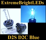 TWO Deep BLUE D2S D2R D2C HID bulbs for factory HID equipped cars