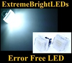 Canbus Error Free LED License Plate Lights Lamps Mercedes-Benz W204 W212 W216 W221