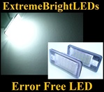 Canbus Error Free LED License Plate Lights Lamps Audi B6 B7 C6 D3 8P
