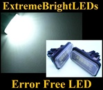 Canbus Error Free LED License Plate Lights Lamps Mercedes-Benz W203 W211 W219