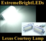 TWO Xenon HID WHITE Step Courtesy Door SMD LED Lamps Lights Bulbs for Toyota and Lexus