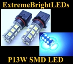 BLUE P13W SMD LED Fog Light Daytime Running Light bulbs for Chevy Camaro 2010-2013 (w/factory HID Headlights)