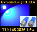 BLUE T10 168 2825 194 1.5W High Power LED bulbs