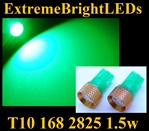 GREEN T10 168 2825 194 1.5W High Power LED bulbs