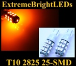 AMBER 25-SMD SMD LED Parking Backup 360 degree High Power bulbs