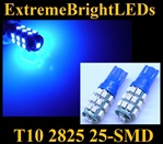 BLUE 25-SMD SMD LED Parking Backup 360 degree High Power bulbs