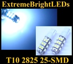 WHITE 25-SMD SMD LED Parking Backup 360 degree High Power bulbs