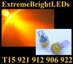 AMBER 9-LED 921 912 516 579 917 918 920 922 923 906 904 916 LED Light Bulbs