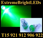 GREEN 9-LED 921 912 516 579 917 918 920 922 923 906 904 916 LED Light Bulbs