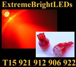 RED 9-LED 921 912 516 579 917 918 920 922 923 906 904 916 LED Light Bulbs