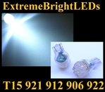 WHITE 9-LED 921 912 516 579 917 918 920 922 923 906 904 916 LED Light Bulbs