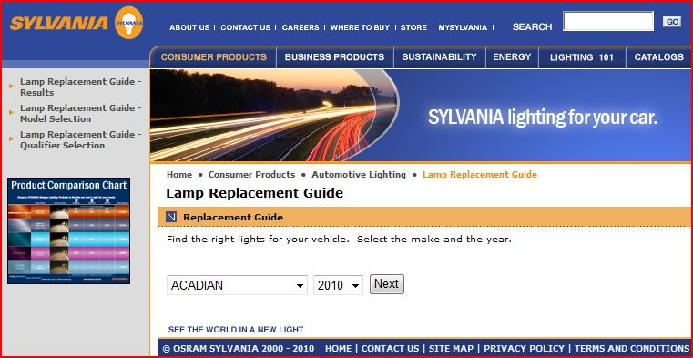 Sylvania silverstar headlight guide.