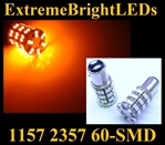 AMBER 60-SMD LED 1157 Signal Tail Brake Backup Lights