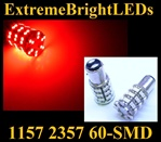RED 60-SMD LED 1157 Signal Tail Brake Backup Lights