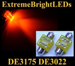 AMBER 6-LED DE3175 31mm Festoon Map Dome Door Trunk LED bulbs