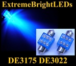 BLUE 6-LED DE3175 31mm Festoon Map Dome Door Trunk LED bulbs