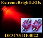 RED 6-LED DE3175 31mm Festoon Map Dome Door Trunk LED bulbs