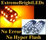 TWO Orange AMBER No Resistor Required No Error No Hyper Flash Canbus Error Free 3156 3157 3457 3357 20-SMD LED Turn Signal Lights