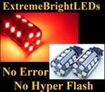 TWO Brilliant RED No Resistor Required No Error No Hyper Flash Canbus Error Free 3156 3157 3457 3357 20-SMD LED Turn Signal Lights