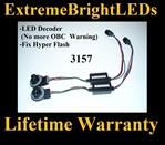 3157 3057 LED Light Bulb Warning Canceler Decoder Fix Hyper Flash Error Free Plug