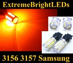 TWO Orange AMBER High Power Canbus Error Free 3156 3157 33x Samsung 5730 Turn signal Lights
