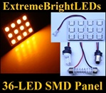 ONE Orange AMBER 36-LED SMD Panel fits all interior Light sockets