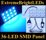 ONE Brilliant BLUE 36-LED SMD Panel fits all interior Light sockets