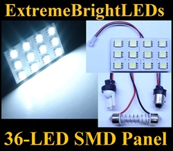 ONE Xenon HID WHITE 36-LED SMD Panel fits all interior Light sockets