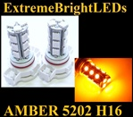 AMBER 5202 H16 5201 SMD LED Fog Light Daytime Running Light bulbs