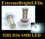 WHITE 5202 H16 5201 SMD LED Fog Light Daytime Running Light bulbs
