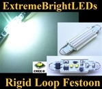 "ONE Xenon HID WHITE 44mm Rigid Loop Festoon 562 1.72"" 211-2 578 Cree XB-D LED Light Bulbs"