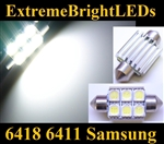 ONE Xenon HID WHITE Canbus Error Free 6418 C5W Samsung SMD LED Light Bulb
