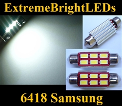 TWO Xenon HID WHITE Canbus Error Free 6418 C5W Samsung 5730 LED Light Bulb