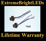 7443 LED Halogen Light Harness Socket Plug