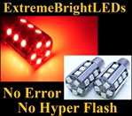 TWO Brilliant RED No Resistor Required No Error No Hyper Flash Canbus Error Free 7507 BAU15s PY21W 20-SMD LED Turn Signal Lights