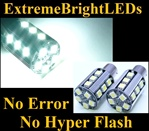 TWO HID WHITE No Resistor Required No Error No Hyper Flash Canbus Error Free 7507 BAU15s PY21W 20-SMD LED Turn Signal Lights