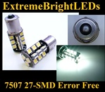 WHITE 27-SMD LED 7507 BAU15s PY21W Canbus Error Free No Resistor Required Turn Signal Backup Lights