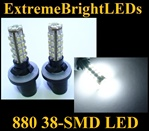 38-SMD Xenon White HID 880 LED Fog Light Bulbs Daytime Running Light Bulbs