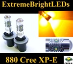 TWO Amber Orange 25W High Power 5 x Cree XP-E 880 LED Fog Lights Bulbs