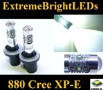 TWO Xenon HID White 25W High Power 5 x Cree XP-E 880 LED Fog Lights Bulbs