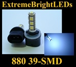 39-SMD Xenon White HID 880 LED Fog Light Bulbs Daytime Running Light Bulbs