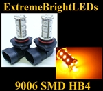 AMBER 9006 SMD LED Fog Light Daytime Running Light Bulbs