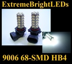 WHITE 9006 68-SMD LED Fog Light Daytime Running Light Bulbs